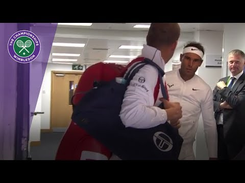 Rafael Nadal bangs his head ahead of Muller clash at Wimbledon 2017
