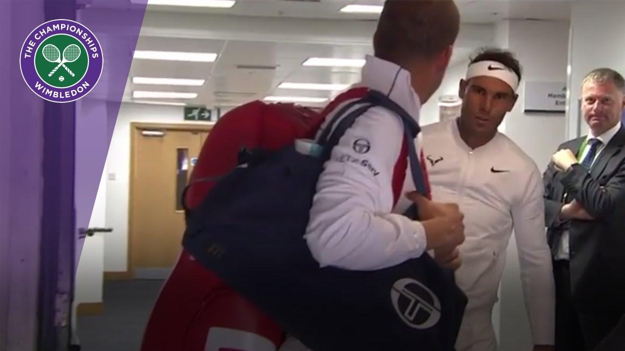 Надал несмасно ја удри главата пред натпреварот со Милер