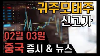 [중국 증시] 2021-02-03 17시30분