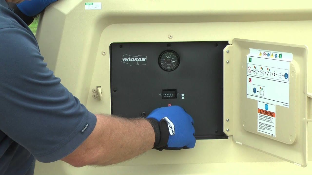 basics in operating a doosan portable power air compressor youtube