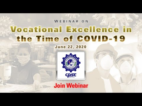 Webinar On Vocational Excellence In The Time Of COVID-19