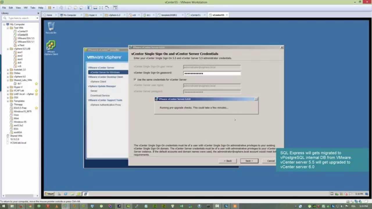 VMware vCenter Server 5 5 to 6 0 Upgrade