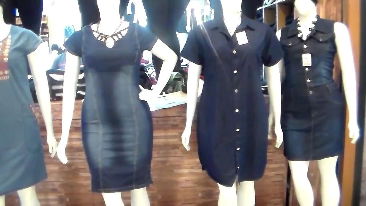 Vestidos jeans plus size no bras