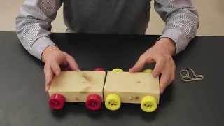 Dynamic carts and crashing blocks for Newton's laws of motion///Homemade Science with Bruce Yeany