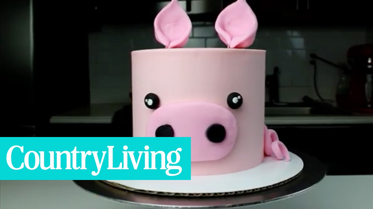 Pink Piggy Cake | Country Living
