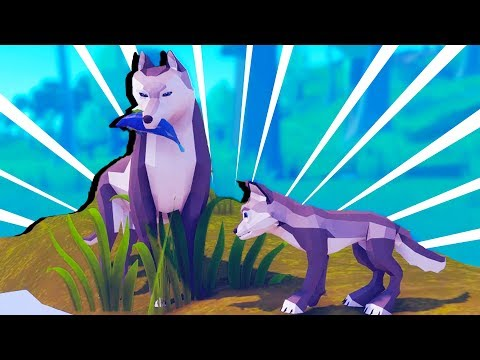 Totally Accurate Wolf Simulator! - Wild Wolf Gameplay