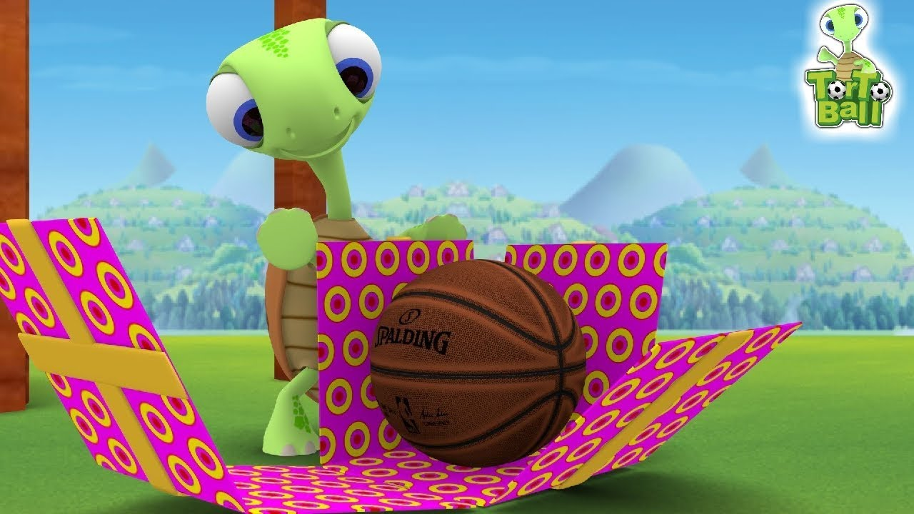 Turtle Surprise Basketball Funny 3D Animation For Children and Kids | Torto Ball