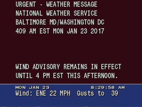 Wind advisory 1/23/2017