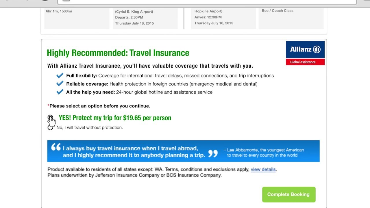 Allianz Travel Insurance Review - YouTube