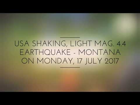 Light mag. 4.4 earthquake - Montana on Monday, 17 July 2017