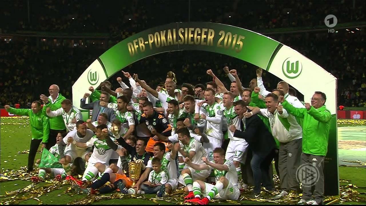 Dfb Pokalfinale 2015 Berlin Vfl Wolfsburg Siegerehrung