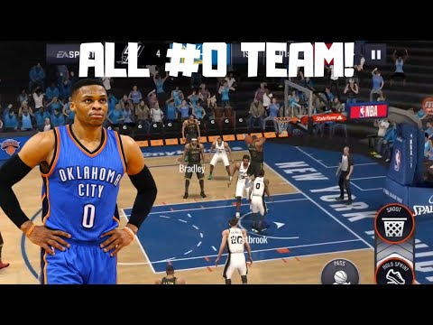 ALL #0 TEAM GAMEPLAY IN NBA LIVE MOBILE 20!!!