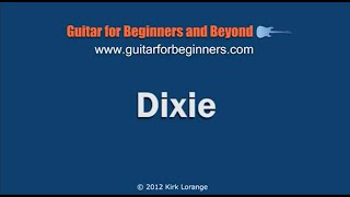 I Wish I Was in Dixie - A Fingerstyle Guitar Lesson
