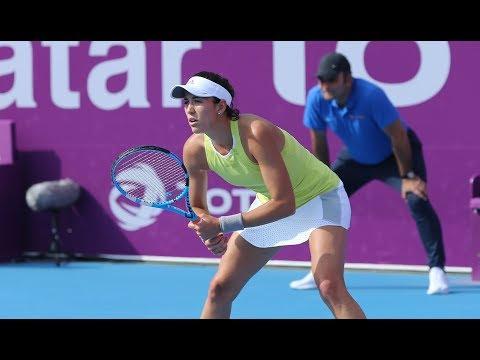 2018 Qatar Total Open Third Round | Garbiñe Muguruza vs. Sorana Cirstea | WTA Highlights
