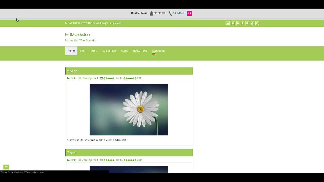 Wordpress Top Bar Not Showing - Speed Contact Bar