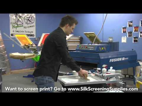 How to Screen Print - White Ink - Detailed instruction - Screen Printing 101 DVD pt 26