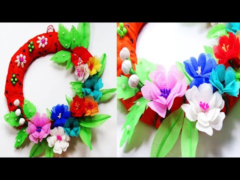 How to make wall hanging from shopping bag    Best Wall decor idea 2019