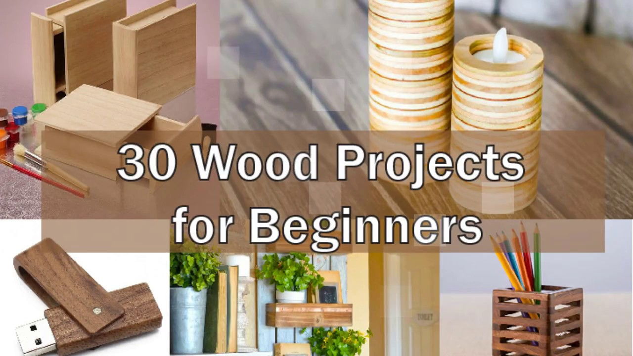 30 DIY Wood Project for Beginners - YouTube