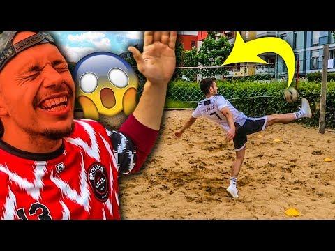 1 VS 1 BEACH VOLLEY FUßBALL CHALLENGE !