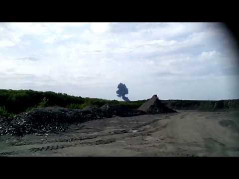 Moment Malaysian Airplane Crash's to the Ground