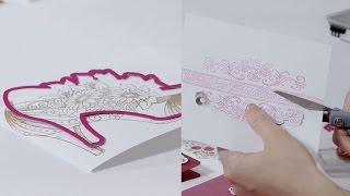 Simple ways to make a card that's a high heel, rose borders and more! All Glammed Up Collection