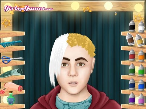justin bieber haircut game justin bieber hair cut part 2 the 1547 | hqdefault