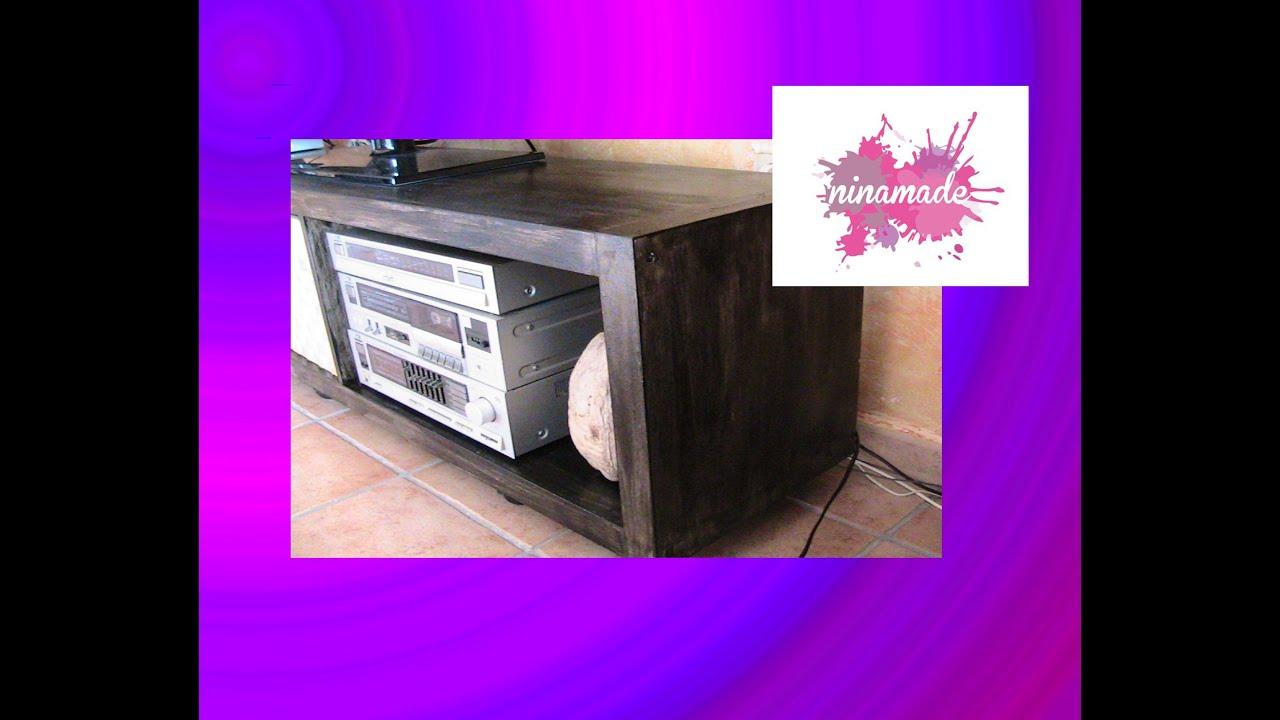 Diy como pintar un mueble melaminado efecto madera youtube - Lacar un mueble de madera ...