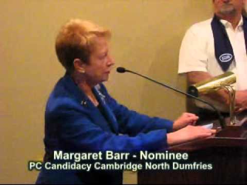 Margaret Barr PC Riding Candidate Nominee Cambridge North Dumfries