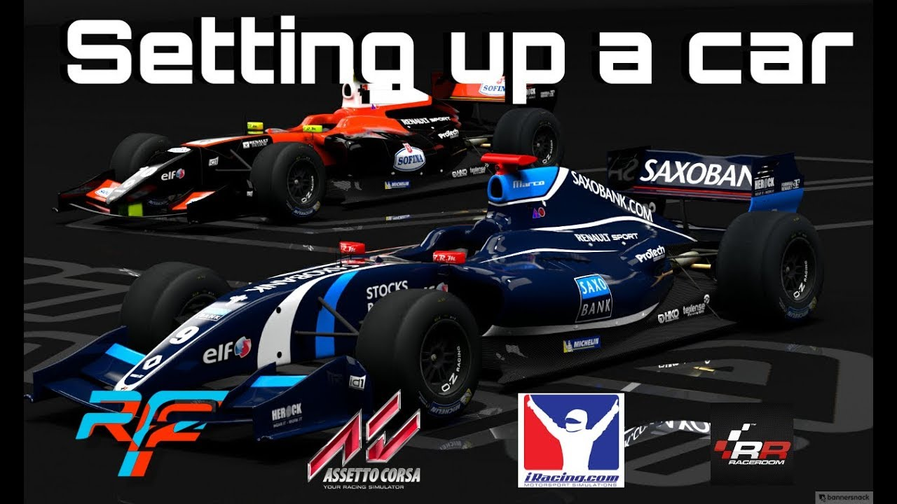 BASIC SETUP GUIDE! How to get a basic setup in rFactor 2, Assetto Corsa,  iRacing or R3E