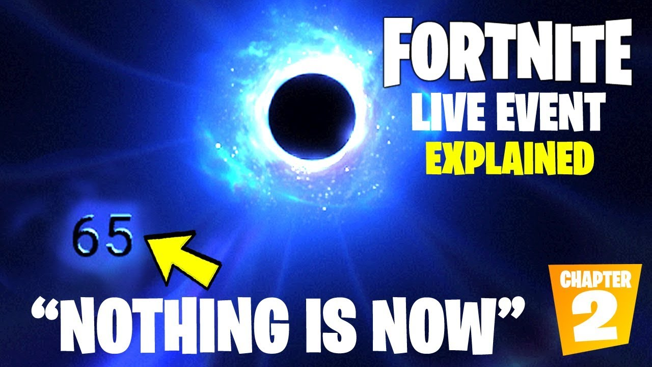 Fortnite Black Hole Event Numbers Explained Last Number The Nothing Is Now Inevitable