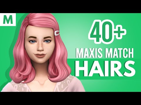 40 Maxis Match Hairstyles The Sims 4 Cc Favorites 19 Youtube