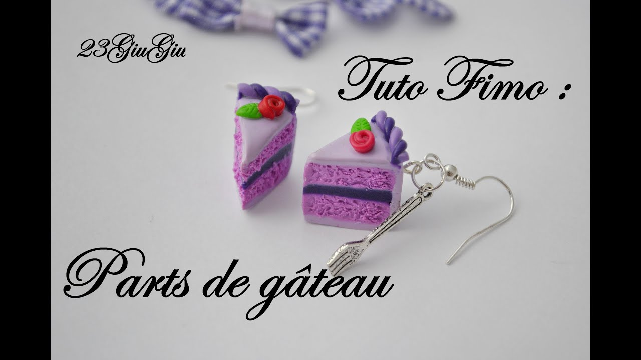 Tuto Fimo : part de gâteau - YouTube