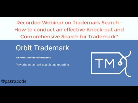 How to conduct an effective Trademark Search   Orbit Trademark by Patracode