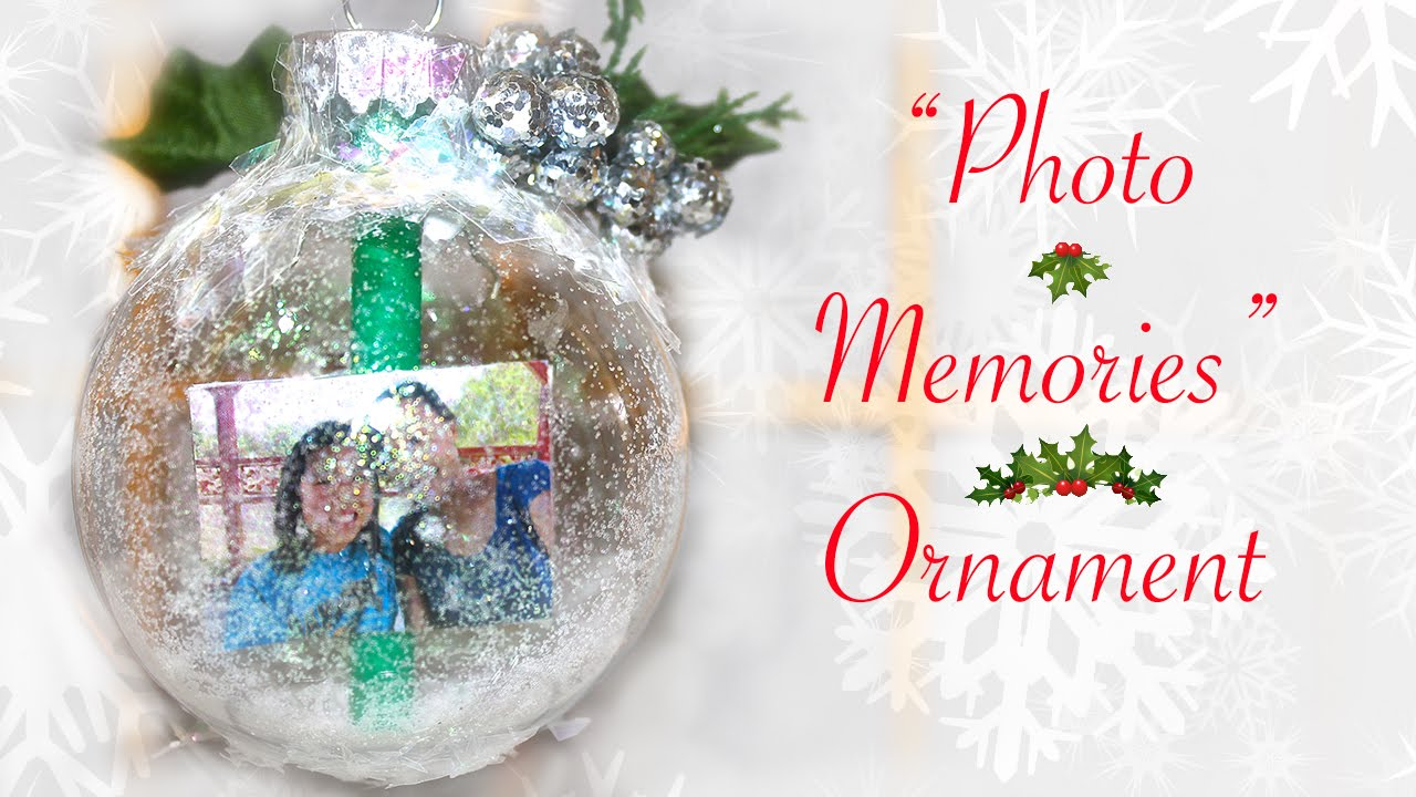 diy photo memories ornament gift for someone special youtube