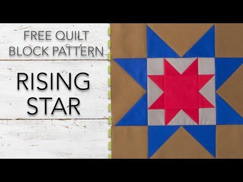 FREE Quilt Block Pattern: Rising Star