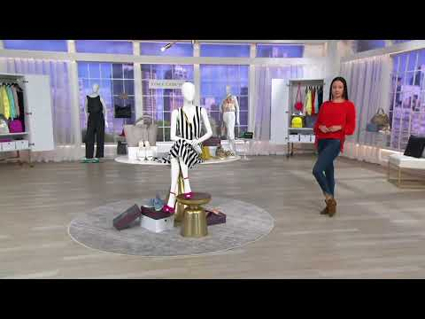 Vince Camuto Suede Exposed Ankle Booties - Panthea on QVC