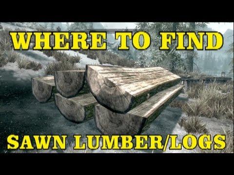 Skyrim Hearthfire DLC: Where To Find Sawn Lumber/Logs