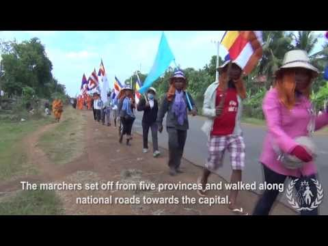 10-day Marches across Cambodia Calling for Justice & Peace