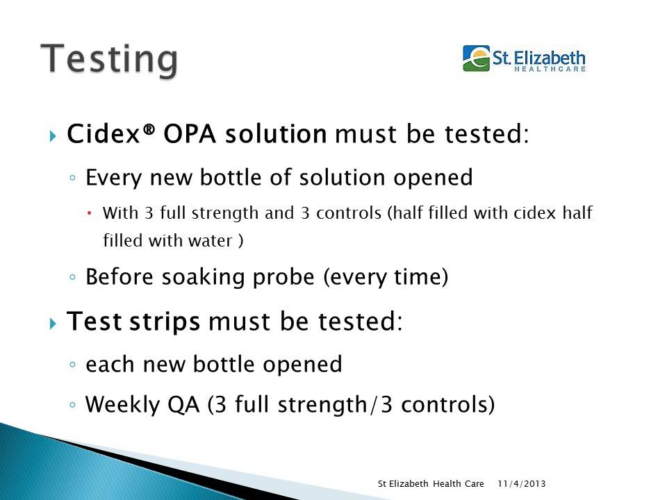 Cidex OPA Guidelines Ultrasound Tips Tricks
