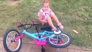 Какой велосипед купить Учимся Кататься на Новом велосипеде  Видео для Детей ВЛОГ