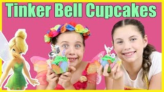 TINKER BELL CUPCAKES - BAD FAIRY PRINCESS ASHLEE - Disney Fairies DIY cake decorating tinkerbell