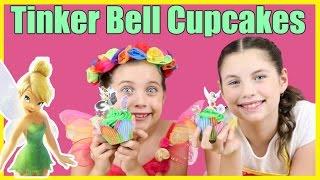TINKER BELL CUPCAKES - BAD FAIRY PRINCESS ASHLEE - Disney Fairies DIY cake decorating tinkerbell
