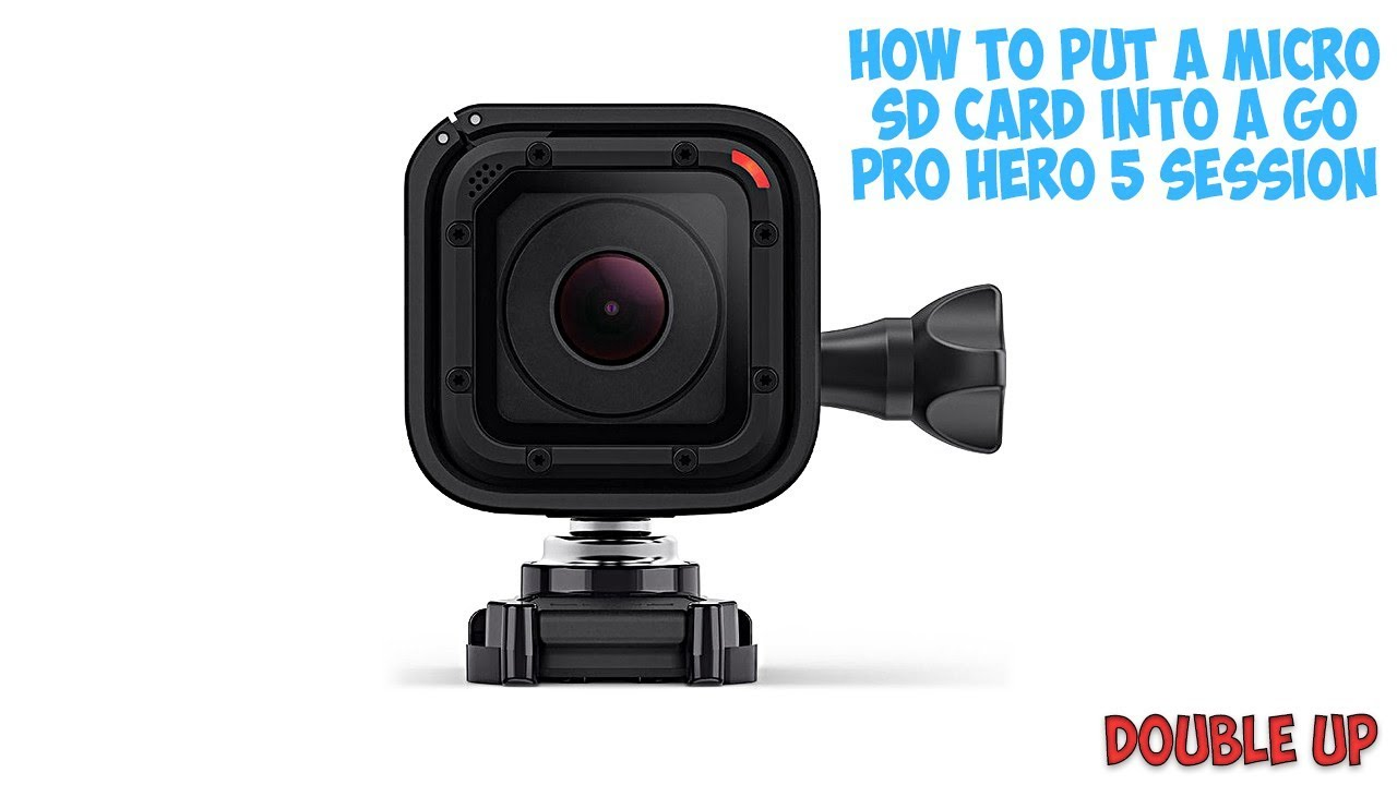 carte sd gopro hero 5 How to put a micro SD card into a GoPro hero 5 session   YouTube