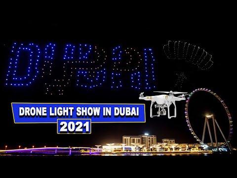 Drone Light Show in Dubai 2021 | 4K | Dubai Vlog | Top 10 Dubai | Visit Dubai 2021 | دبي | #Uae