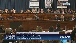 House Judiciary Committee Debates on Articles of Impeachment