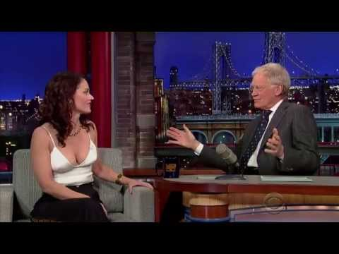 Robin Tunney on Late Show with David Letterman - Feb.03/2015