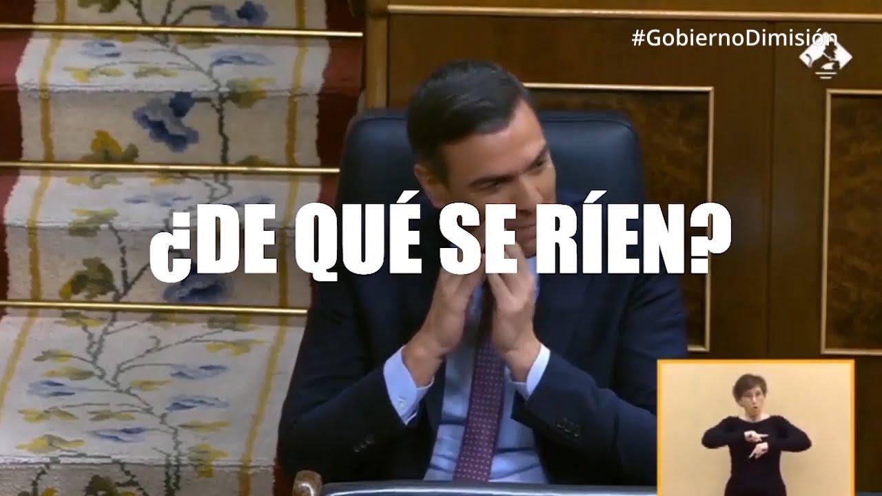 ¿De qué se rie el Gobierno de Sánchez?