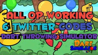 [ROBLOX] ALL 6 WORKING TWITTER CODES FOR DART THROWING SIMULATOR