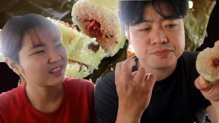 Sốc toàn tập khi ăn bánh tét anh chàng Hàn Quốc gói😱😱 🇻🇳292