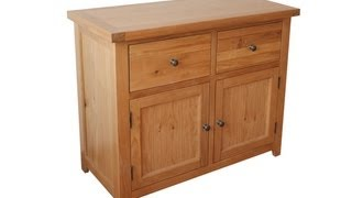 Oak Sideboards - Edinburgh small solid oak sideboard Arran Oak Collection